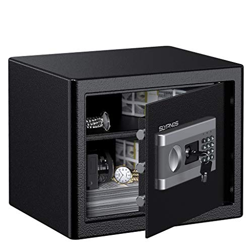 Cash Designs - Electronic Digital Security Safe Box, Solid Steel Construction Hidden with Deadbolt Lock Wall-Anchoring Design for Home Office Hotel Business Jewelry Gun Cash Medication (1.0 Cubic Feet)