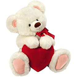 """Happy Valentine's Day 12"""" Smitten Teddy Bear Plush Toy With Red Heart"""