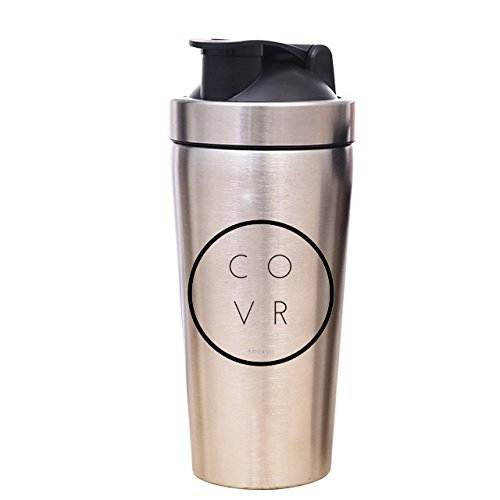 Metal Gym Shaker Bottle - COVR 25 oz - Glasses Hideous
