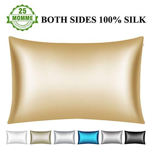 Amazon Com Wonwo 25 Momme Silk Pillowcase Both Sides 100