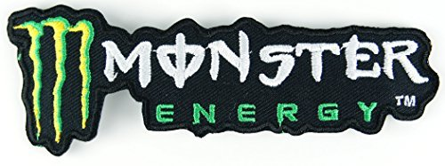 モンスターエナジー MONSTER ENERGY 横長デザイン 刺繍アイロンワッペン アップリケ 縦4.8cm 横約13.8cm