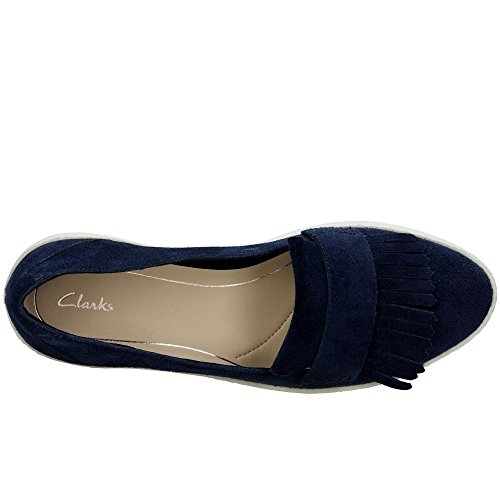 Clarks Mujer Mocasines Lillia De Ante Marino Azul Lottie HPnzqwd