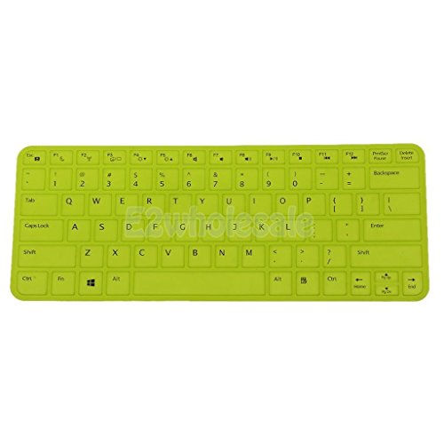 [해외]Dell V5460 14inch 노란색에 대 한 방진 실리콘 노트북 키보드 스킨 필름 커버/Dustproof Silicone Laptop Keyboard Skin Film Cover for Dell V5460 14inch Yellow