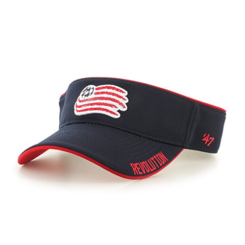 fan products of MLS New England Revolution Top Rope Adjustable Visor, One Size, Navy