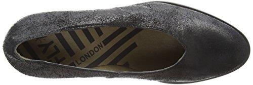 Women's Closed Black London 000 Toe Saco371fly Heels Black Fly qRtU5w1U