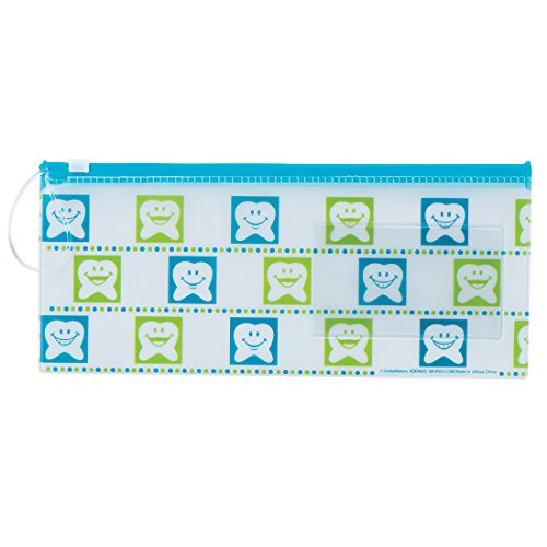 Happy Tooth Dental Zipper Pouches - Dental Hygiene Products - 48 per Pack