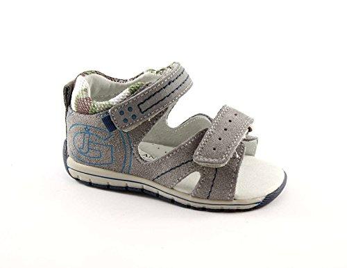 Grünland ERAN PP0122 piel sandalias grises bebé lágrimas talón Grigio