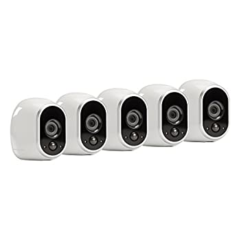 Arlo – Wireless Home Security Camera System with Motion Detection | Night vision, Indoor/Outdoor, HD Video, Wall Mount | Cloud Storage Included | 5 camera kit (VMS3530)