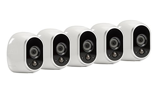 Arlo - Wireless Home Security Camera System with Motion Detection | Night vision, Indoor/Outdoor, HD Video, Wall Mount | Cloud Storage Included | 5 camera kit (VMS3530)