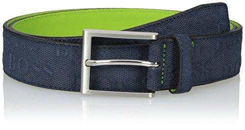 Suede Designer Belt (BOSS Green Men's Talo Belt In Navy,)