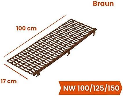 Dachrinnenschutz NW 100//125//150 Braun 100 cm INEFA Laubfangstreifen 30 St/ück