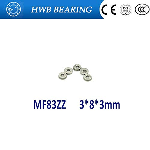 10pcs Flange Bearing 3x8x3mm Bearings MF83ZZ