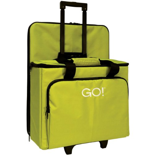 AccuQuilt GO! Multi-Purpose Rolling tote with Die Bag in Green by AccuQuilt