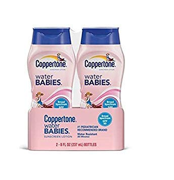 - Coppertone Water Babies Sunscreen Lotion, SPF 50, 8 oz. (Pack of 2)