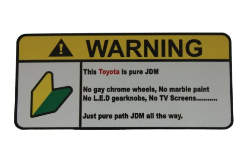 Toyota Pure JDM, Warning decal, sticker - Mr2 Supercharger