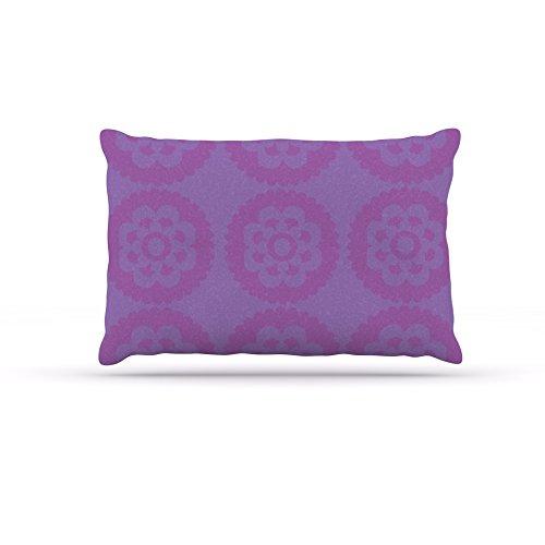 Kess InHouse Nicole Ketchum Mgoldccan purplec  Fleece Dog Bed, 50 by 60 , Multicolor