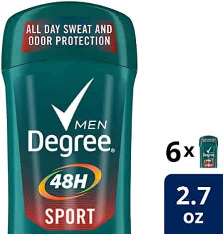 Degree Men Antiperspirant Deodorant Stick, Sport 48 Hour Protection, 2.7 oz, Pack of 6