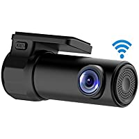 TekBow WiFi Car DVR Dash Camera HD 1080P 170 Degree Wide Angle 360° Rotation Mini Vehicle Video Recorder APP Monitor Night Vision for IOS Android Phone,16GB Micro SD Card Included