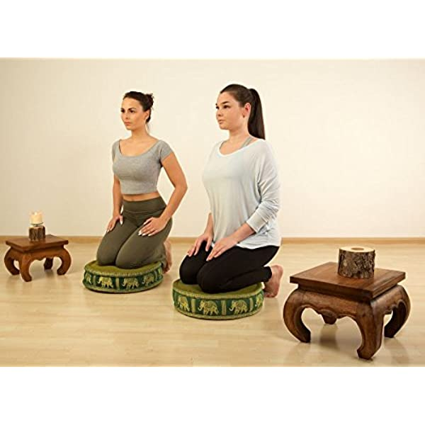 Zafukissen mit Kapokfüllung,Thaikissen,Meditationskissen,Yogakissen,Sitzkissen