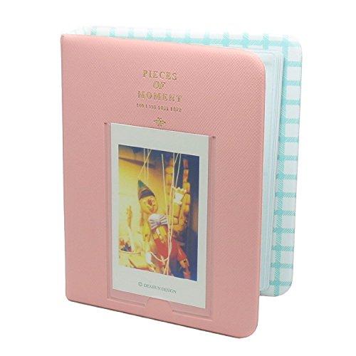 64 Pockets 3 Inch Piece of Moment Candy Color Fuji Instax Photo Mini Book Album or Name Card for Instax Mini 70 7s 8 25 50s 90 Film/Pringo 231/ Fujifilm Instax SP-1/ Polaroid PIC-300P/ Z2300-Pink