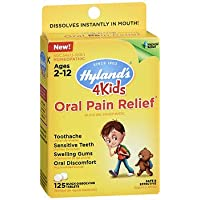 Hyland's 4 Kids Oral Pain Relief Tablets - 125 ct, Pack of 2