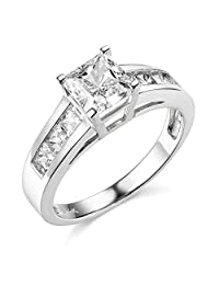 14k Yellow OR White Gold SOLID Princess Square Wedding Engagement Ring