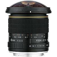 Lightdow 8mm f/3.5 Aspherical MC Fisheye Lens for Canon Nikon DSLR Cameras (for Canon EF-S)