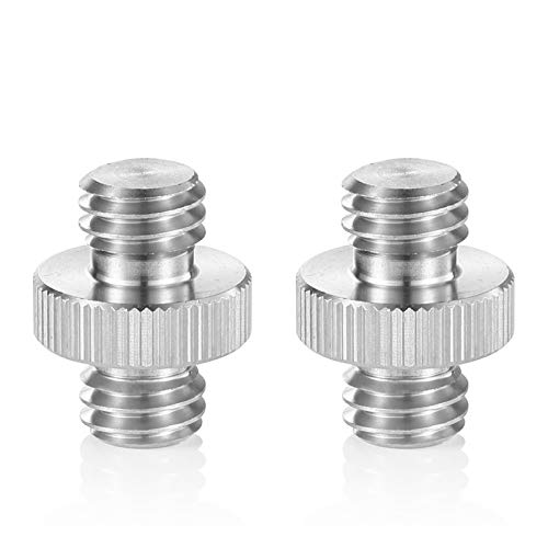 SMALLRIG Double Head Stud Adapter 3/8 Male to 3/8 Male Thread Screw for Flash Mount Holder Stand (2pcs Pack)