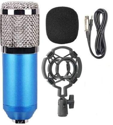 Zucca™ Sound Studio Recording Dynamic Professional BM-800 Condenser Microphone, Blue (Requires phantom power connection)