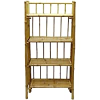 Exotic Bamboo Shelf w 4 Tier Configuration