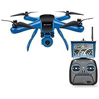 World Tech Toys Elite Raptor HD Gimbal Video Camera 2.4GHz 4.5 Channel RC Quadcopter, Blue/Black, 12.5 x 12.5 x 7.25