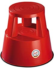 Wedo kickstol, röd, 43 cm diameter på topp 29 cm, på undersidan: 44 cm