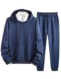 Joe Wenko-CA Mens Sweatshirt Pants Outfits Hooded Sportwear 2 Piece Tracksuit Set