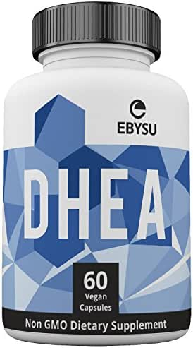 EBYSU DHEA 100mg Supplement - Extra Strength Hormonal Balance for Men & Woman - Metabolism Boost & Healthy Aging Support - 60 Non-GMO Vegan Capsules