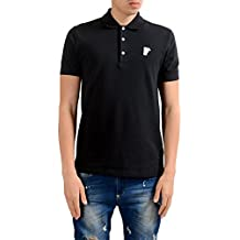 Versace Collection Men's Black Short Sleeves Polo Shirt US L IT 52;