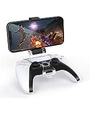 TiMOVO Telefonklämma fäste för PS5-kontroll, justerbar mobiltelefon spelklämma fäste stativ hållare passar PS5 DualSense trådlös kontroll, svart