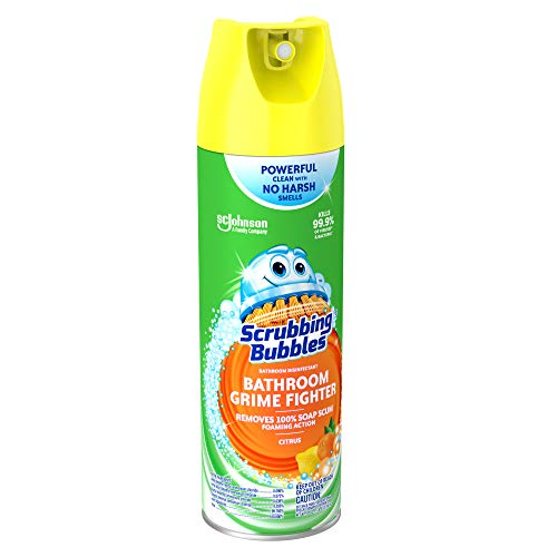 Scrubbing Bubbles 20 Ounce Antibacterial Bathroom Cleaner Aerosol, 6 Count