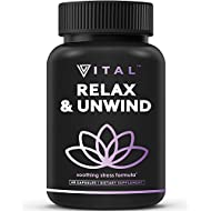 Premium Anxiety Relief & Stress Relief Supplement - Herbal Formula with Ashwagandha to Soothe & Relax, Promote Calm, Positive Mood & Reduce Stress by Increasing Serotonin Without Feeling Tired 60 Caps
