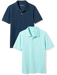 Boys' Short-Sleeve Uniform Pique Polo