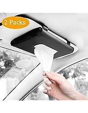 Fredysu Car Visor Tissue Holder, Car Tissue Dispenser Hanging Paper Towel Holder Case for Car Seat Back and Vehicle Side Door, Multi-use Paper Tissue Cover Case for Car & Truck Decoration