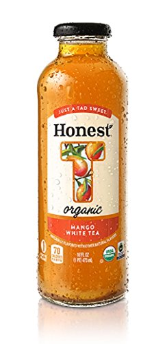 White Mango 16 oz Glass Bottle Pack of 12 (Tea Tea Mango Honest)