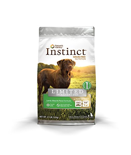 Nature's Variety Instinct Limited Ingredient Diet Raw Boost Lamb Meal & Peas Formula Dry Dog Food, 4.1 lb. Bag