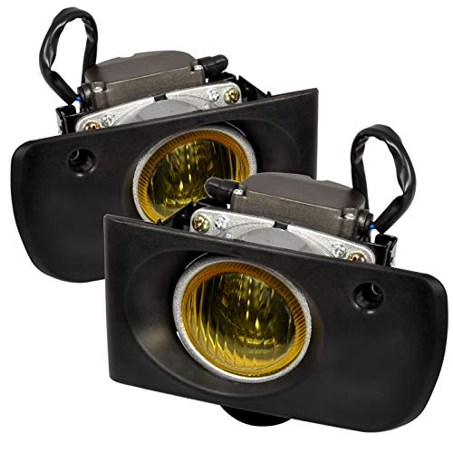 Carpartsinnovate For Acura 94-97 Integra Yellow Lens Fog Lights Front Driving Lamps Left+Right+Switch