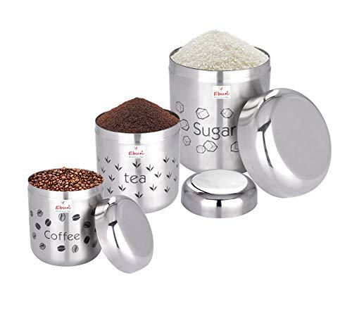 Ebun-Stainless-Steel-Coffee-Tea-Sugar-Container-Set-for-Kitchen-Storage-3-Pieces-Silver-Matt-Finish