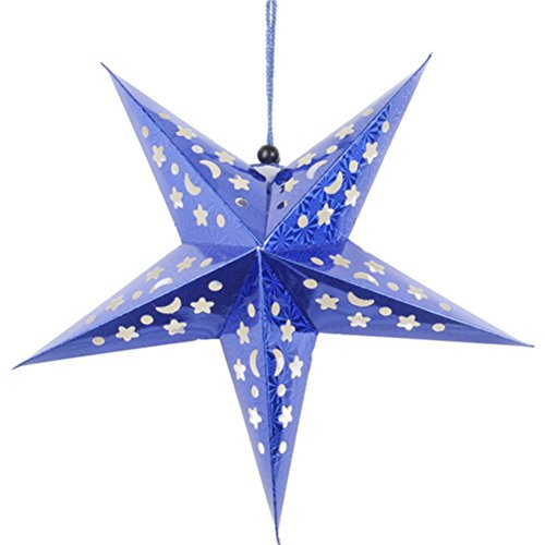 Tinksky Paper Star Lantern 3D Pentagram Lampshade for