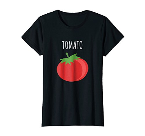 Womens Funny Couples Halloween Shirt - Tomato Small Black