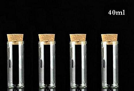 417880202759 Amazon.com: 10PCS 40ml 1.3oz Small Glass Vials Bottles Jars Test ...