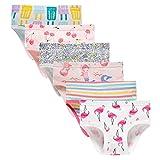 Sladatona Little Girls' Soft Cotton Underwear Bring Cool, Breathable Comfort Experience Panty 3-4t