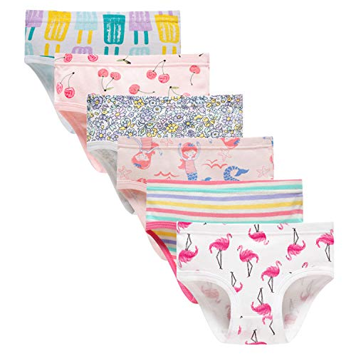 Sladatona Little Girls' Soft Cotton Underwear Bring Cool, Breathable Comfort Experience Panty - Underwear Girls Soft