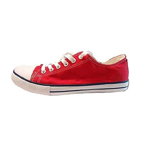 Admiral - Zapatillas de nordic walking de Lona para hombre Varios Colores Multicolore Rojo
